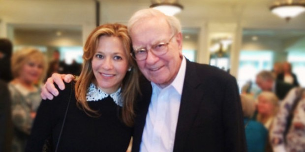 Gillian Zoe Segal with Warren Buffett
