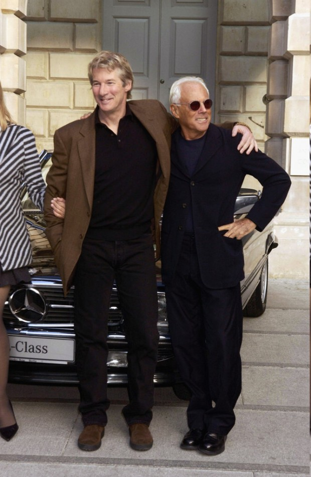 Giorgio Armani with Richard Gere