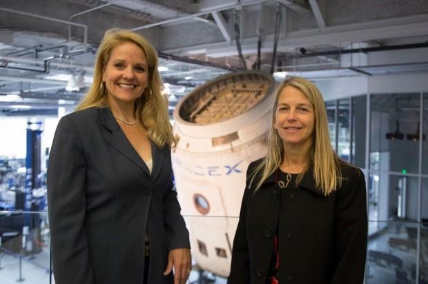 NASA Deputy Administrator Dava Newman and SpaceX President and COO Gwynne Shotwell