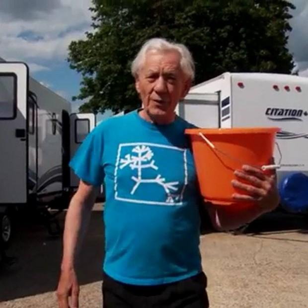 Sir Ian McKellen accepts ALS Ice Bucket Challenge