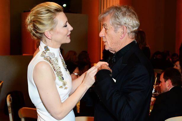 Cate Blanchett and Ian Mackellen