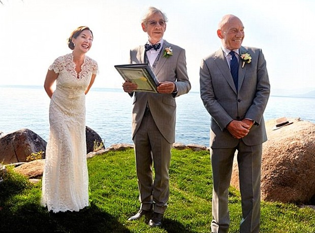 Sir Ian McKellen officiated at the wedding of Patrick Stewart