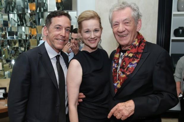 Laura Linney and Steve Schoch with Sir Ian McKellen