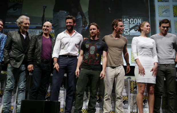 Sir Ian Mckellen with X-MEN Cast Comic-Con