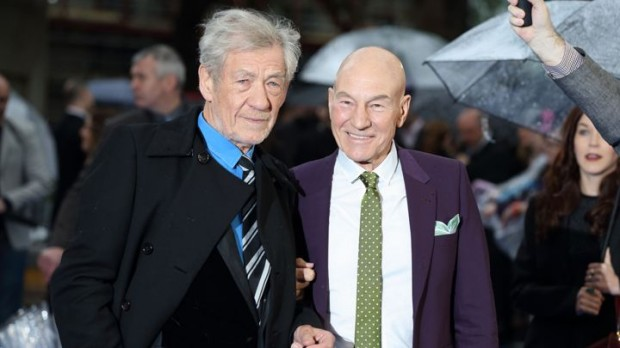Sir Ian McKellen and Patrick Stewar