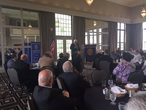 Jim Speaking at Beckley Rotary Club