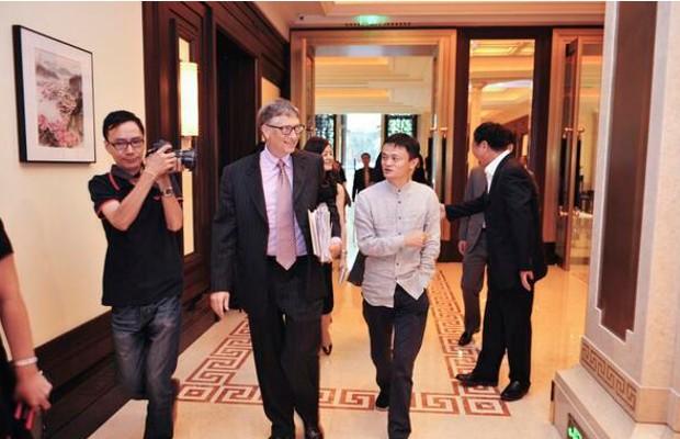 Microsoft Founder Bill Gates with Jack Ma