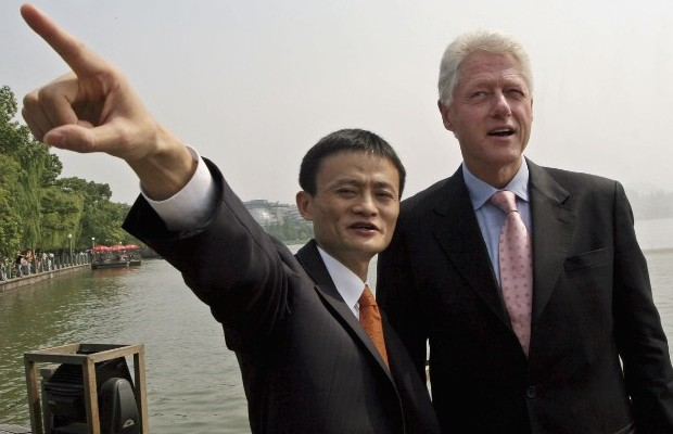 Jack Ma with Former US President Bill Clinton