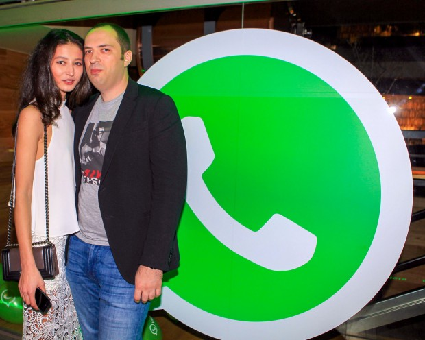 Jan Koum with His Girlfriend Evelina Mambetova