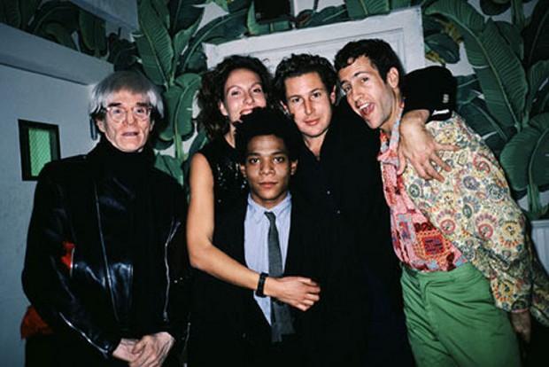 Andy Warhol, Jacqueline Schnabel, Jean-Michel Basquiat, Julian Schnabel & Kenny Scharf