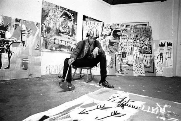 Jean with his painting in his studio