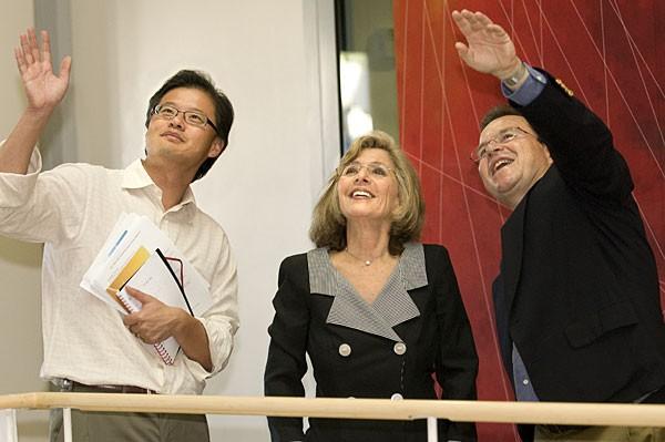 Jerry Yang with Jeffrey Koseff
