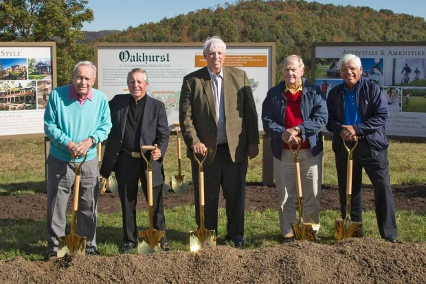 Jim with Golf Legends Arnold Palmer, Gary Player, Jack Nicklaus, and Lee Trevino at the groundbreaking ceremony