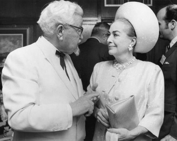 Harland Sanders with Joan Crawford