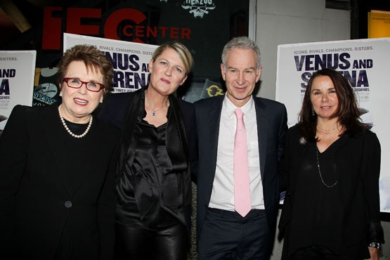 John Mcenroe With Billie Jean King, Maiken Baird, and His Wife Patty Smyth