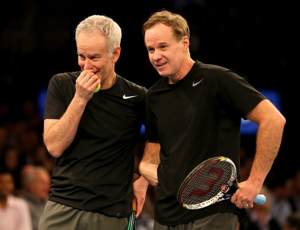John Mcenroe Palying Doubles With His Brother Patrick