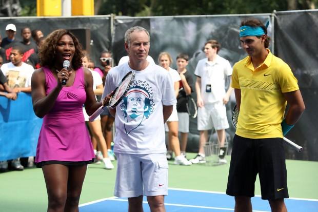 John Mcenroe with Serena Williams
