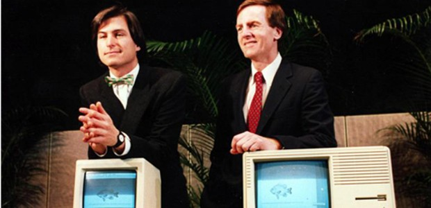 Steve with John Sculley in 1985