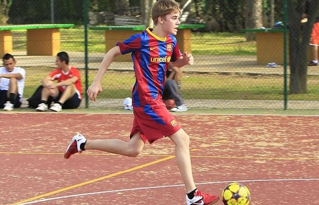 Justin Bieber Playing Football Match