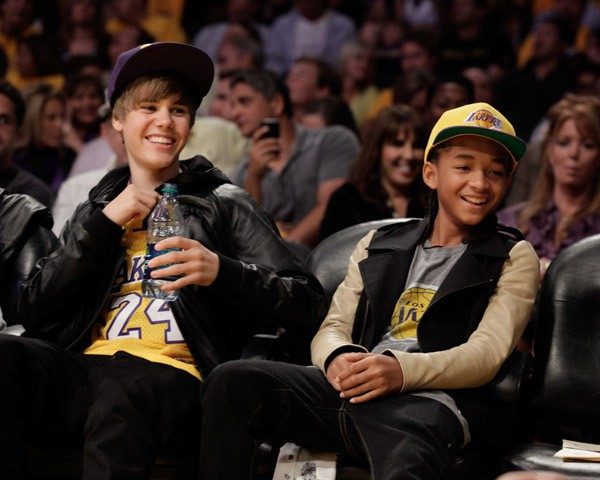 Justin and Jaden at a Basketball Game