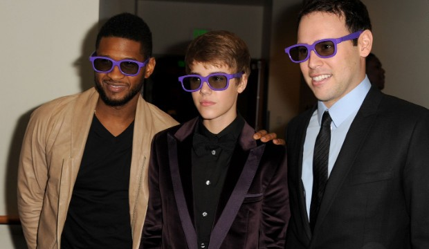 Justin Bieber with Scoot and USher