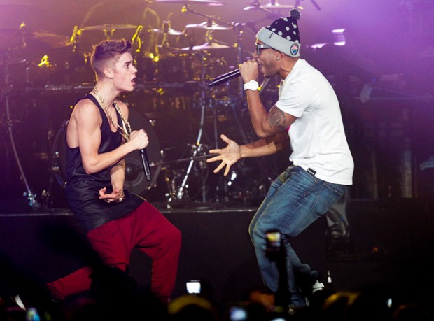 Ludacris and Justin Performing on stage