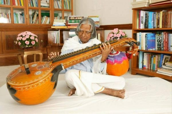 Kalam Playing Music Instrument Veena