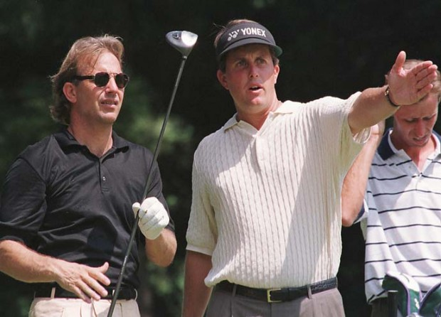 Kevin Costner and Phil Mickelson