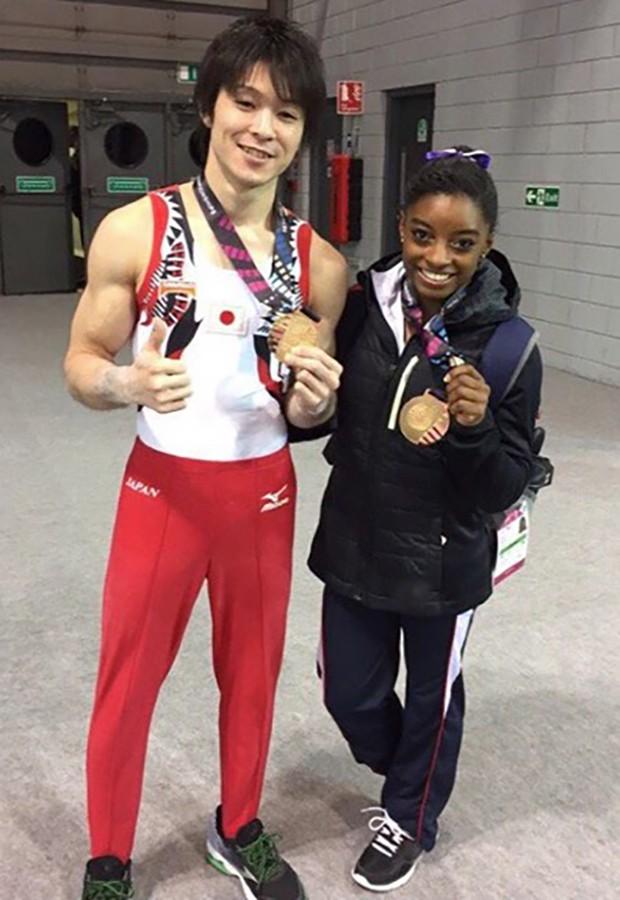 Gymnastic Champs Kohei Uchimura and Smon Bilese