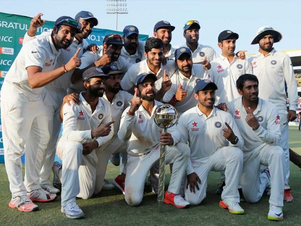 Virat and His Boys with ICC Test Mace