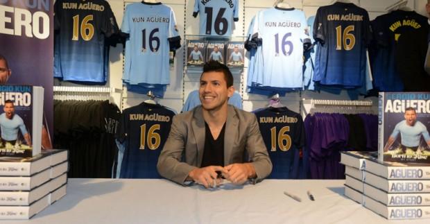 Sergio Aguero at his book signing
