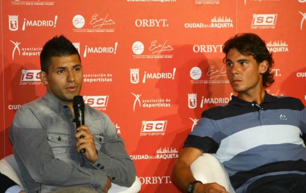 Rafael Nadal and Sergio Agüero