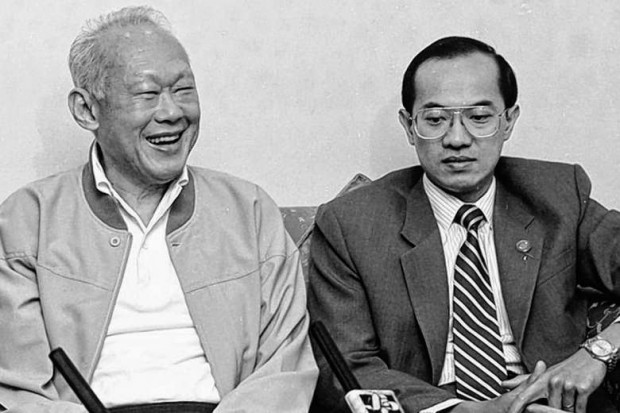 Robert Kuok with Lee Kuan Yew