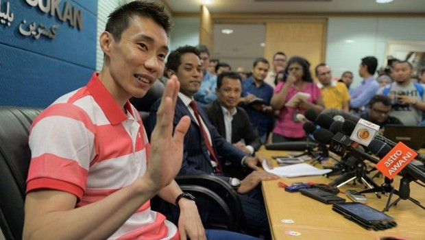 Lee Chong Wei during Press Conference