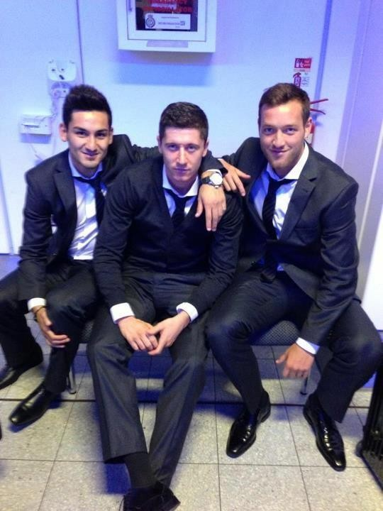 Lewy with Ilkay and Julian
