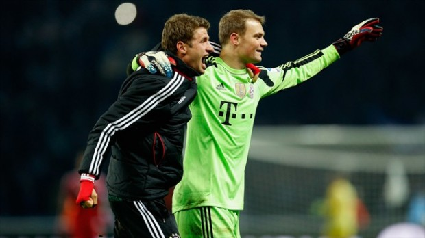 Manuel Neuer and Thomas Muller