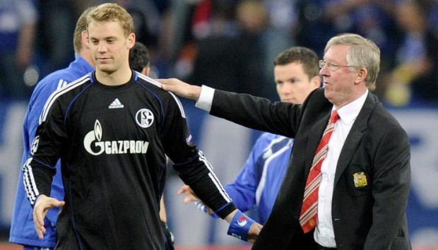 Manuel Neuer with Sir Alex Ferguson
