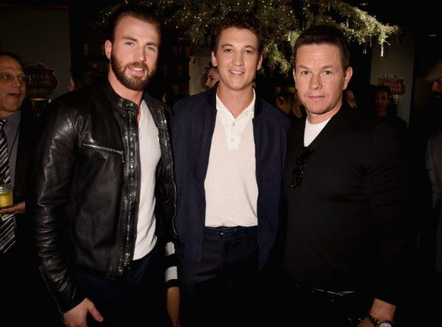 Mark Wahlberg, Chris Evans and Miles Teller