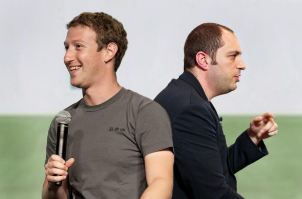 Facebook Founder Mark Zuckerberg with Whatsapp Founder Jan Koum