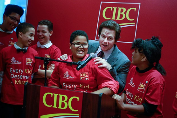 Mark Wahlberg at CIBC Charity Event