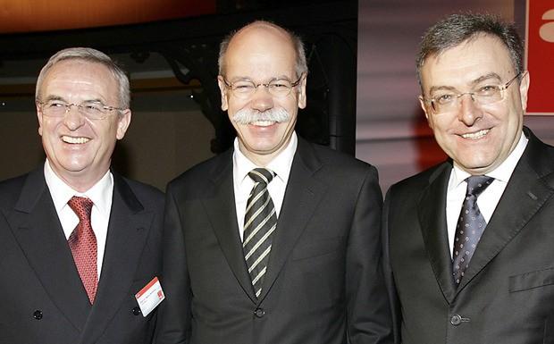 Martin Winterkorn, Dieter Zetsche und Norbert Reithofer