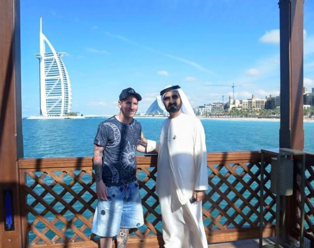 Messi with UAE Prime Minister HH Sheikh Mohammed bin Rashid Al Maktoum