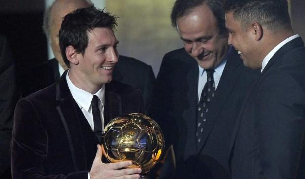 Ronaldo with Messi