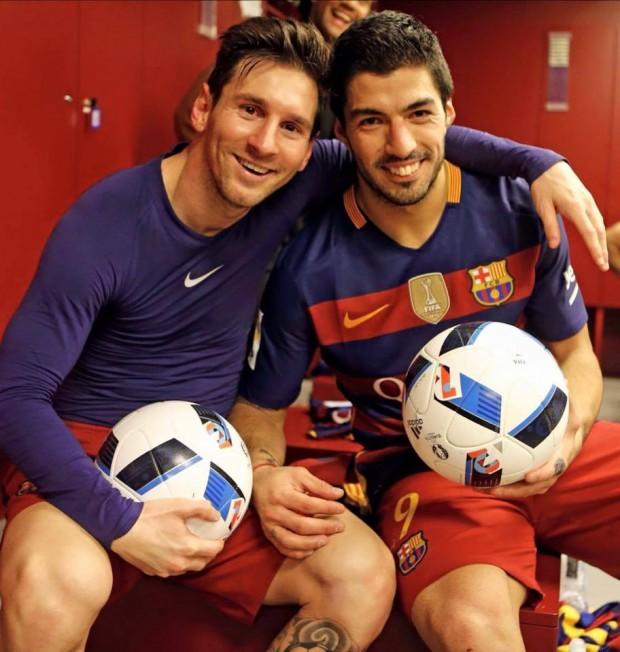 Luis Suárez and Messi