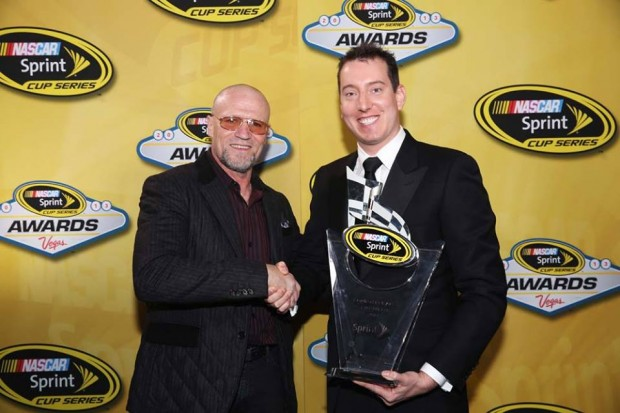 Kyle Busch with Michael Rooker at Sprint Cup Awards