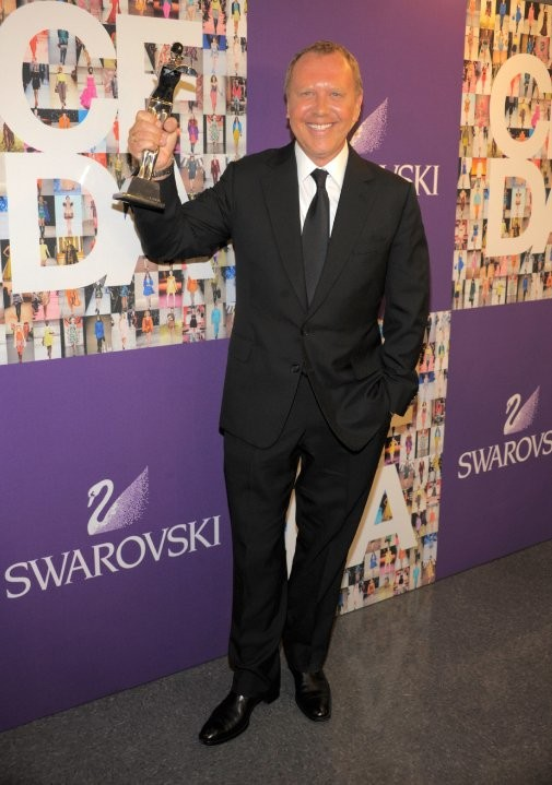 Michael Kors with His CFDA Lifetime Achievement Award
