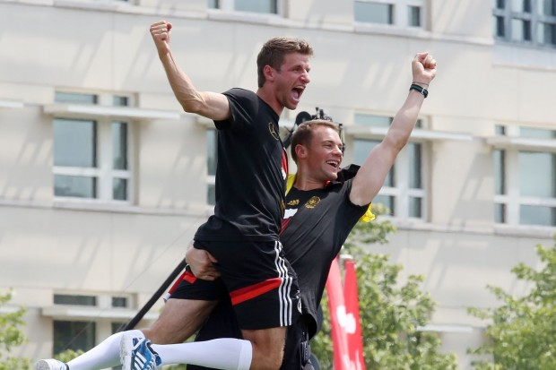 Thomas Müller and Manuel Neuer