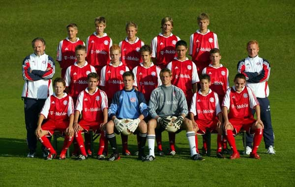 Thomas Muller with U15 FC Bayern team in 2003