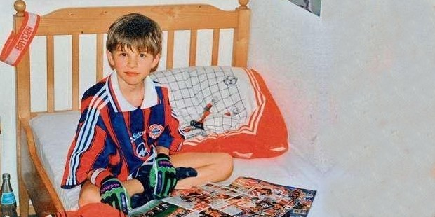 Thomas Muller in his childhood