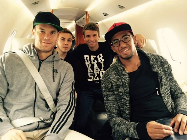 with Bayern Munich Boys